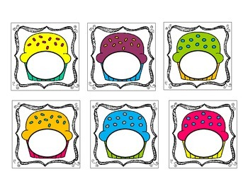 Small Blank Cupcake Labels