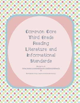 Small Bright Polka Dot Reading Common Core Standards