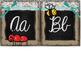 Small Burlap & Chalkboard Cursive Alphabet featuring the Melonheadz