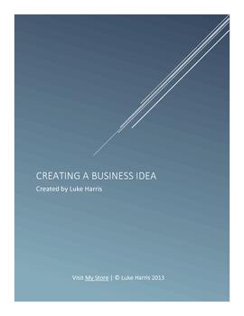 Creating A Business Idea