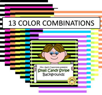 Small Candy Stripe Backgrounds