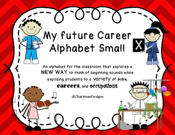 Small Career Alphabet in Blue and Red