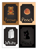 Small Chalkboard Color Posters