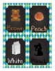 Small Chalkboard Color Posters green argyle