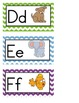 Small Chevron ABC Posters, Word Wall Headers & Vocabulary Cards - Dual Language