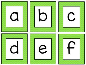 Chevron Alphabet Cards SMALL