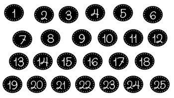 Small Circle Number Tags (1-25)