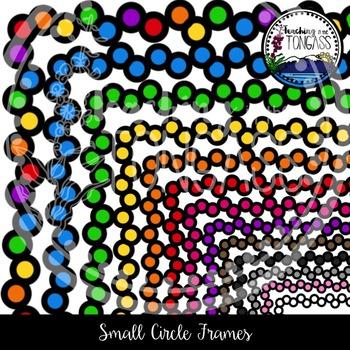 Small Circles Frames Clipart Bundle