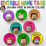 Small Round Labels for Student Work Displays | Neon Colors