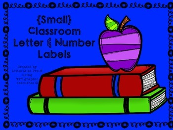 Small Classroom Letter & Number Labels