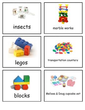 Small Classroom Shelf Labels, 6 labels per page