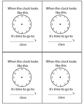 Small Clocks for pull-out class (4 per page)