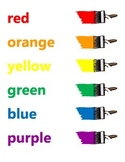 Small Color Words Poster