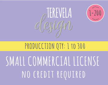 Small Commercial License  - Commercial Use License - No Credit Required