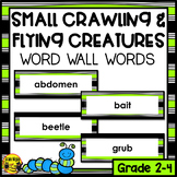 Small Crawling & Flying Animals Word Wall Words- Editable