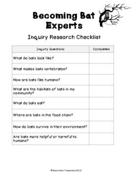 Small Crawling & Flying Creatures (BATS) - An Alberta Grade 2 Science Unit