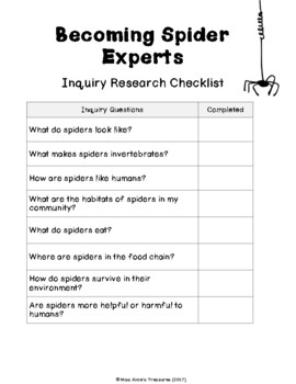 Small Crawling & Flying Creatures (SPIDERS) - An Alberta Grade 2 Science Unit
