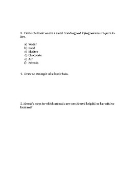 Small Crawling and Flying Animals Quiz