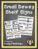 Small Dewey Shelf Signs