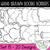 Accent Doodle Frames Large Set // Personal and Commercial