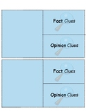 Small Fact and Opinion Clues Foldable Template