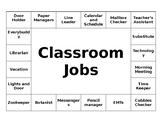 Small Footprint Classroom Jobs Sign - Editable!
