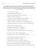 Small Group #9 - Vocabulary Puzzle Worksheet