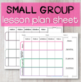 EDITABLE Small Group ACTION PLAN Attendance Sheet