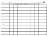 Small Group Behavior Chart