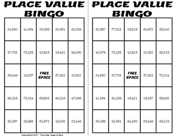 Small Group Bingo - Place Value
