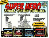 Small Group / Center Rotation Signs {Superhero Theme}
