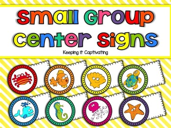 Small Group Center Signs {Ocean}