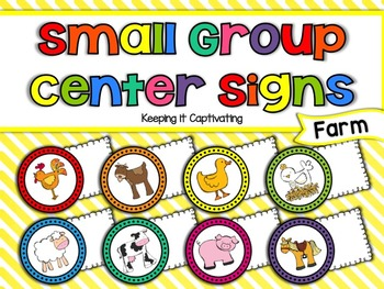 Small Group Center Signs {Farm}