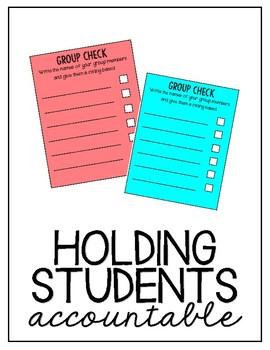 Small Group Check Sheet