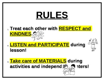 Small Group Classroom Rules