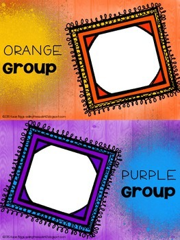 Small Group Clip Charts
