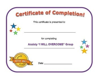 Small Group Completion Certificate: Anxiety