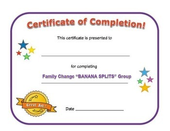 Small Group Completion Certificate: Family Change