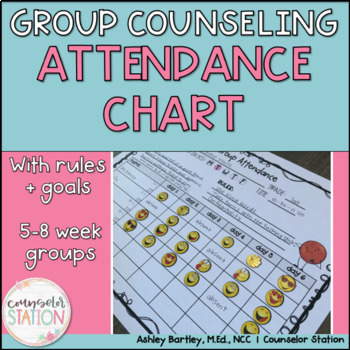 Small Group Counseling Attendance Charts - 5, 6, 7, or 8 week groups