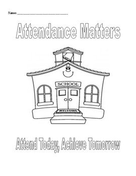 Small Group & Individual Counseling: Attendance Matters Activities Packet