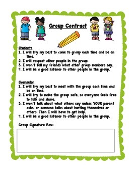 Small Group Counseling Contract