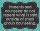Small Group Counseling Guidelines