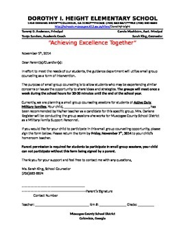 Small Group Counseling Permission Form (Active Duty Military)