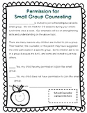 Small Group Counseling Permission Form (Editable)