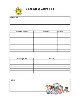 Small Group Counseling Plan