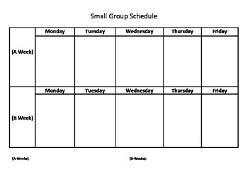 Small Group Counseling School Counselor Schedule Example