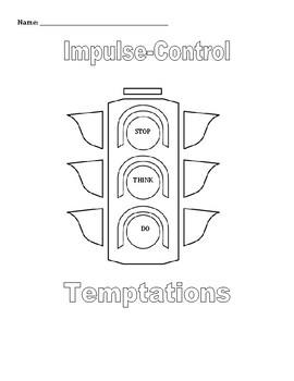 Small Group & Individual Counseling: Impulse Control Activities Packet