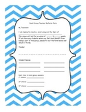 Small Group Counseling - Teacher Referral Form