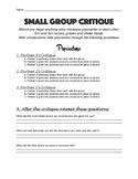 Small Group Critique Sheet and Instructions