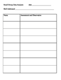 Small Group Data Analysis Form